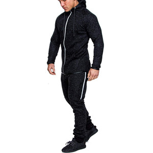 2021 From Men Coaching Sportswear Sweatpants Jogger Casual with Hood Print 2 Piece of Male Fitness Suite Hot Fashion Clothes C22u