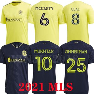 Novo 2021 2022 Nashville SC Soccer Jerseys 21 22 MLS Nashville Hany Mukhtar Zimmerman Home Away Camisa de Futebol Leal McCarty Uniforme Tailândia
