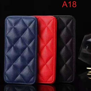 Cell Phone Pouches A-18 Luxury CC Leather Case For 11 Pro Max 7 8 Plus Card Cover Ultrathin Magnetic Snap Flip