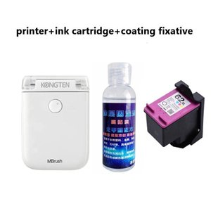 Printers Mini Portable Mbrush Handheld Inkjet Printer Cube DIY Printing Colorful Wifi Connect USB Rechargeable With Glue Ink Cartridges