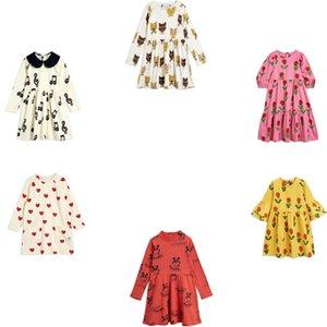 Crianças vestido 2020 outono inverno strafina mr meninas vestido bebê princesa festa vestido crianças roupas musicais coração flor vestidos c0223