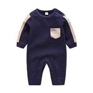 유아 Rompers 아기 긴팔 라운드 넥 올인원 디자이너 아이들의 옷 침구 소년과 소녀 의류 바지 브랜드 디자인 3-24 m