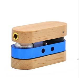Folding Wooden Pipe Hand Portable Foldable Smoking Pipes Double layer multicolor Pipe Outdoor small Smoking Accessories BWC6536