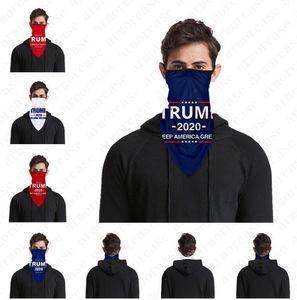 Trump Face Mask American Flag Magic Collar Men Women Sports Masks Headband Cycling Headwear Anti Dust PM2.5 Earloop Scarf D52814