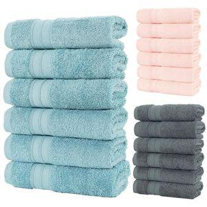 6 قطع الوجه منشفة ستوكات ماصة الحمام المناشف المنزل للمطبخ سمكا القماش الجافة سريعة لتنظيف منشفة المطبخ # T2G