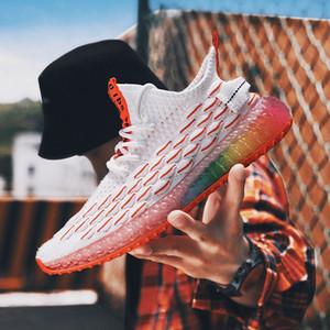 2020 Nouvelle arrivée Sneakers colorés Camouflage Hommes Chaussures Mode Wihte Chaussures pour hommes Zapatillas Hombre Deportiva Taille 39 44 Mocassins pour Z0GD #