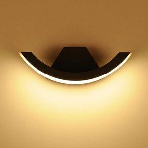 6 adet 10 W Duvar Işık LED Su Geçirmez Bahçe Işık IP65 Açık Duvar Lambası Yüzey Monte Avlu Led Aplik