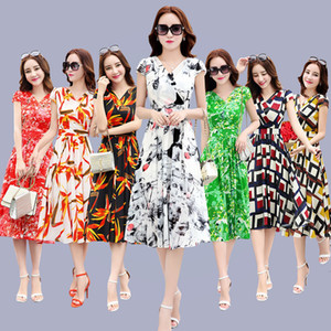 Dressed Chiffon 2021 New Korean Summer Version Women in the Section of Slim Fine Wild Fashion Ladies Rmsv