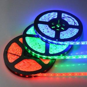 Strips 5M 2835 5630 RGB LED Strip Light 60LEDs M DC12V Flexible Lamp Tape Waterproof TV Backlight Home Christmas Lights Decor