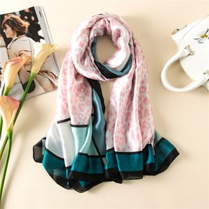 Spring and summer new classic silk long printed sunscreen scarf elegant atmosphere warm neck K477
