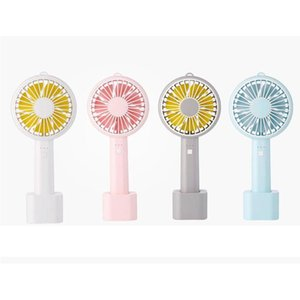 Hand-Held Portable Cartoon Base Fan Mini New Style USB Hand Electric Fan for Home Office Travel