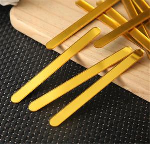 Multi cor reutilizável acrílico sorvete sticks picolicle vara kids artesanato diy artesanal fazendo artesanato bebê chuveiro