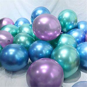 15pcs 10inch Chrome Metallic Mermaid Multicolor Latex Balloons Metallic Globos Wedding Baby Birthday Party Decoration Balloons