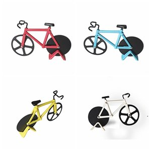 Pizza Cutter Bicycle Pizza Cutter Dual Stainless Steel Bike Pizza Knife Kitchen Baking Tool Creative Cooking Tools HWC5595