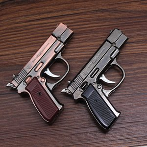 Creatity Mini Gun Lighter Jet Flame Torch Kitchen Giant Heavy Duty Refillable Micro Culinary Light for Smoking Windproof LED Lighter DHF5263
