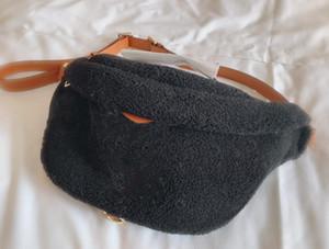 Neue Mode Unisex Crossbody Bag Frauen Weiche Taille Tasche Umhängetaschen Lam Haar Satchel Plüsch Hohe Qualität Brusttaschen