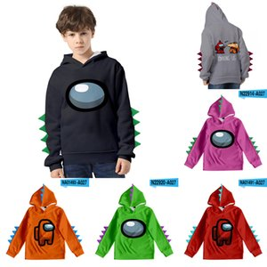 Among us Pullover Hoodies cartoon sweater boys hoodie Kids baby coats jackets hoody children's clothes dinosaur Plush hats H251MVL
