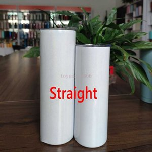 Sublimation Blank Tumbler Mug Stainless Steel Tumblers Water Bottle Car Cup With Lid Straws Coffee Mugs Wine Glasses Drinkware