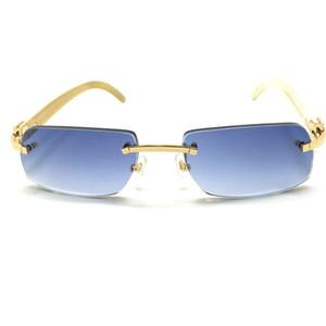 IEnbel Freitag Black Buffalo Horn Luxury Carter Keine hölzerne Sonnenbrille