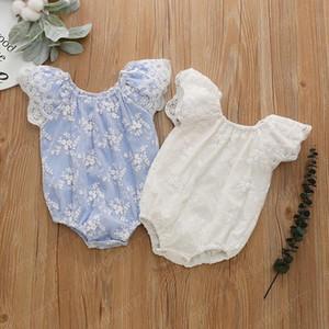 Baby Girl Romper Summer Jumpsuit Flower Infant Newborn Girl Princess Short Sleeve Onesies Bodysuit Clothes Lace Romper