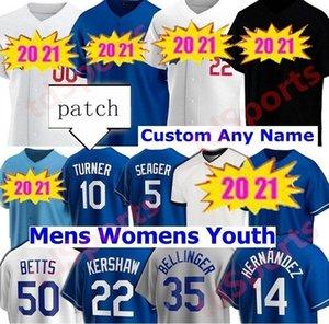20 21 Erkek Kadın Çocuk Gençlik Beyzbol Formaları Cody Bellinger Justin Turner Clayton Kershaw Walker Bouehler Dodger Betts Enrique Hernandez