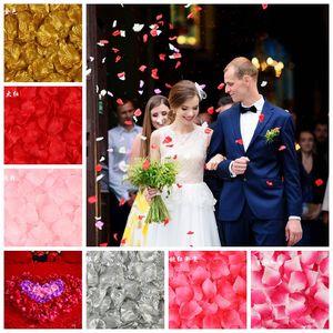 200PCS 5*5CM Silk Rose Petals for Wedding Decoration Romantic Artificial Rose Flower Wedding Accessories