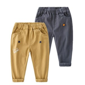 Trousers 2021 Spring Autumn Fashion 2 3 4-10 Years Children Handsome Solid Color Pocket Long Casual Pants For Kids Baby Boys