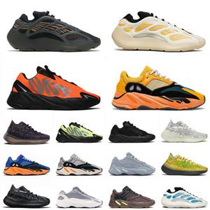 yeezy yeezys boost 380 700 v2 v3 700 mnvn 2021 New Kyanite Kanye Sport Runners Shoes Safflower Orange Azareth mens womens Carbon Blue Oat West Mist Zapatillas de deporte