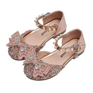 Girls Shoes Kids Shoes Spring Summer Autumn Diamond Pearl Princess Baby Shoes Fashion Toddlers Dress Shoe Girls Footwear B3948