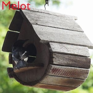 Wooden Bird Nest Outdoor Keep Warm Hanging Nest Winter Small House Pearl Finch Breeding Peony Tiger Skin Xuanfeng Parrot
