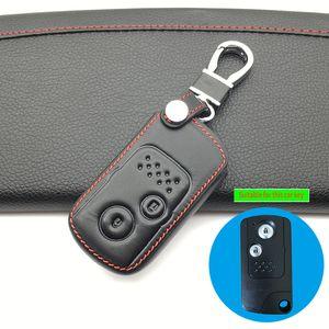 99% Lob 100% Leder Schlüsselanhänger Auto Key Cover Case für Honda Accord Civic CRV Fit 2006-2015 2 Tasten Smart Remote