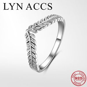 Cluster Rings Hight Quality 925 Sterling Silver Leaves Finger Ring Classic Elegant Stackable Ladies Engagement Jewelry For Women