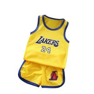 Kids Boys Vest Sports Basketball Uniform Clothes Children Infan Sleeveless Vest Shorts Two-piece Boys Girls Sport Outfits Toddler Costume
