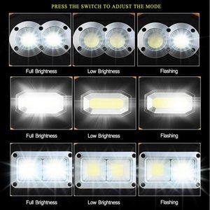 Freeshipping USB Recargable LED Lámpara de trabajo Luz de trabajo Linterna Portátil Portátil Linterna 18650 Batería para Emergencia de Caza Al Aire Libre