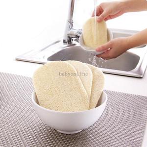 3 adet Set Doğal Loobah Bulaşık Bezi Fırçalama Pad Çanak Kase Pot Kolay Temizlemek Kolay Scrubber Sünger Mutfak Temiz Fırçalar Scrub Pad