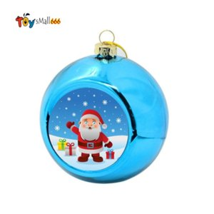 8cm Sublimation Blanks Christmas Ball Decorations for INk Transfer Printing Heat Press DIY Gifts Craft Xmas Tree Ornaments