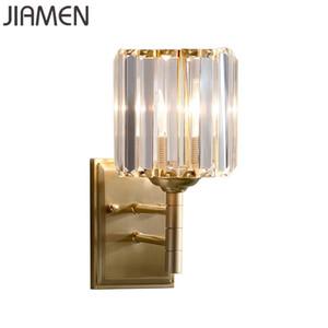 JIAMEN Modern Glass Water Pattern Wall Lamp for Bedroom Corridor Bathroom Kitchen Loft Decor Light Fixtures Led Sconce Luminaire