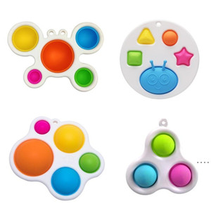 Newest Styles Baby Sensory Simple Dimple Toys Gifts Adult Child Funny Anti-stress Pop It Stress Reliver Push Bubble Fidget Toy OWB5339