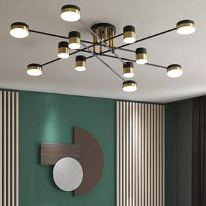 Ceiling Lights Modern And Simple LED Chandelier Lighting Gloss Living Room Villa Interior Decoration Lamp Kitchen Installation