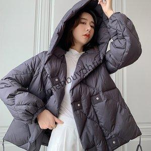 2021 Jiangnan Cloth Clothes Same Down Jacket Women Winter New Short Hooded Loose White Duck Casual Coat2021xuz2