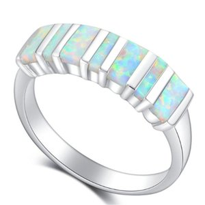 Wedding Rings Fashion Glamour Romantic Opal Men's Women's Holiday Gift Ring Boutique Jewelry Wholesale