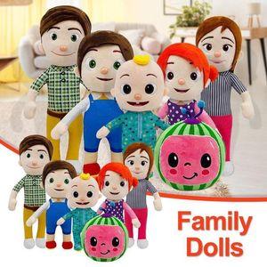 New Stock 15-33CM Cocomelon плюшевая игрушка мягкая мультфильм семейный кокозелон JJ семейство сестра сестра брат мама и папа игрушка Dall детей хритьяные подарки