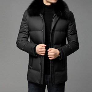 2021 Winter New Down Middle Aged Men's Big Collar Business Leisure Thickened Warm Jacket