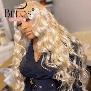 Parrucche di pizzo Body Wave 613 Honey Blonde 13x6 frontale capelli umani brasiliani Parte centrale parrucca anteriore remy precipitato