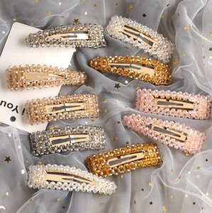 Girl Crystal Hair Pins Fashion Women Side Hair Grips Lady Hairs Jewelry Party Children Princess Hair Accessories ps2776