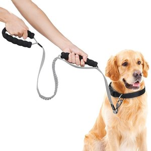 Dog Collars & Leashes Elastic Leash Reflective Stripe Long Pet Rope Belt Nylon Lead Running Durable Products