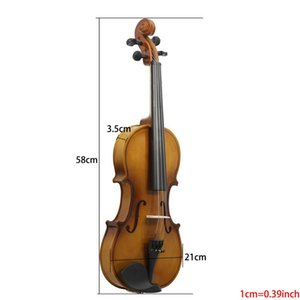 ASTONVILLA Retro Light Violin High-Grade Basswood Maple Durable Violin Crisp Soft Sound Quality Popular Stringed Instruments