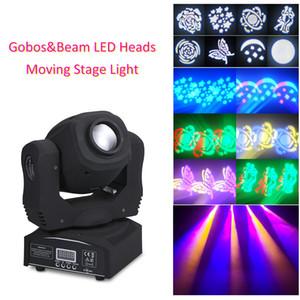 2021 Новый автоматический запуск 60 W Звуковые огни Party Moving Disco Heads DJ 9/11 Мини-каналы Светодиодный этап 8 GOBOS RGBW DMX512 Flash NT1G