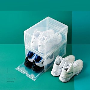 Thicken Clear Plastic Basketball Shoes Dustproof Storage Transparent Sneaker Stackable boot Organizer Domestic Red Boxes Exhibition cabinet