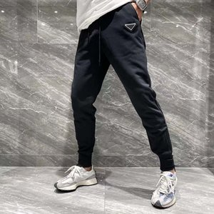 21ss France Mens designer pants fashion Italy pant letter triangle men women casual cotton Baseball pants blue black 09